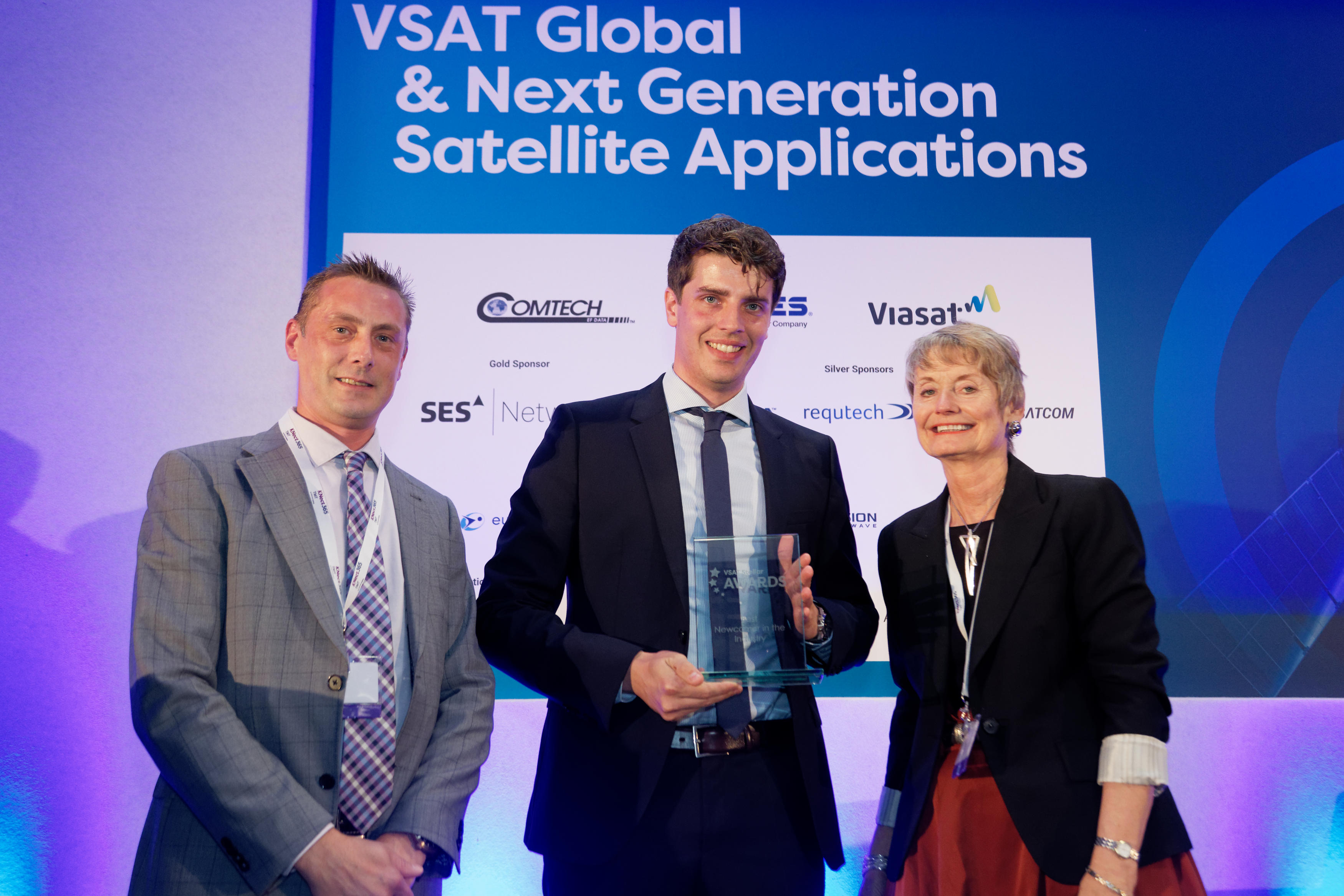 "G&S SatCom receives the ""Best New Comer in the Industry"" Award at the annual VSAT Stellar Awards in London"